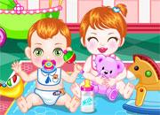 juegos de chicas,Inquietos Bebes Gemelos