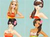 juegos de chicas,Vestir y Maquillarse de Naranja