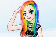 arcoiris en mi cabello