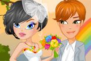 boda en un arcoiris