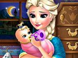 Elsa Frozen Alimenta al Bebé