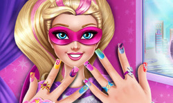 Super Barbie Power Nails